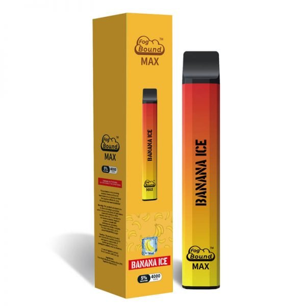 Fog Bound Max 4000 Puffs recharge disposable vape device Banana-ice